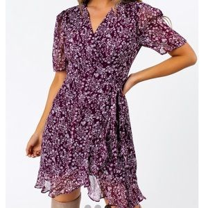 Purple Wrap Dress - new with tag